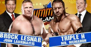 TRIPLE H VS BROCK LESNAR