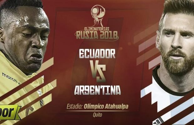 Ecuador vs Argentina En Vivo Eliminatorias Rusia 2018